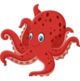 Beeldverhaal het glimlachen octopus Stock Foto