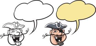 Beeldverhaal het glimlachen piraatgezicht Stock Afbeelding