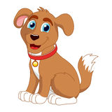Beeldverhaal het glimlachen puppy, vectorillustratie van leuk Royalty-vrije Stock Fotografie