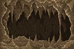 Beeldverhaal het hol met stalactieten vector illustratie