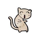 beeldverhaal het zingen kat Royalty-vrije Stock Fotografie