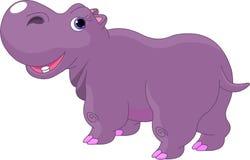 Beeldverhaal Hippo Stock Foto