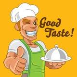 Beeldverhaal Japanse chef-kok stock foto