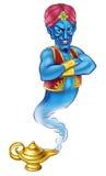Beeldverhaal Kwaad Aladdin Genie royalty-vrije illustratie