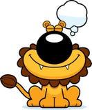 Beeldverhaal Lion Dreaming royalty-vrije illustratie
