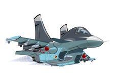 Beeldverhaal Militair Vliegtuig Royalty-vrije Stock Afbeelding