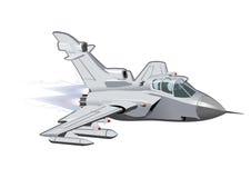 Beeldverhaal Militair Vliegtuig Stock Afbeelding