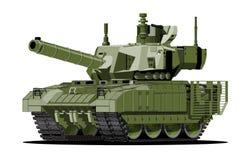 Beeldverhaal moderne gepantserde tank royalty-vrije illustratie