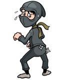 Beeldverhaal Ninja Royalty-vrije Stock Foto's