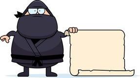 Beeldverhaal Ninja Sign Royalty-vrije Stock Afbeeldingen