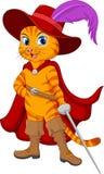 Beeldverhaal puss in laars stock illustratie
