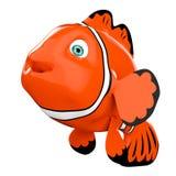 Beeldverhaal Rode Overzees Clownfish het 3d teruggeven stock illustratie