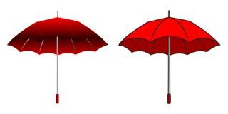 Beeldverhaal rode paraplu Stock Afbeelding