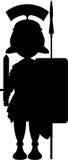 Beeldverhaal Roman Soldier Silhouette Royalty-vrije Stock Afbeelding