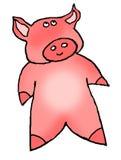 Beeldverhaal roze piggy royalty-vrije stock afbeelding