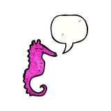 beeldverhaal roze zeepaardje Royalty-vrije Stock Afbeeldingen