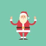 Beeldverhaal Santa Claus Christmas New Year Holiday Royalty-vrije Stock Afbeelding