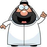 Beeldverhaal Sheikh Idea Stock Afbeelding
