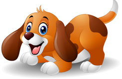 Beeldverhaal speels puppy vector illustratie