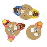 Beeldverhaal Team Meeting Collection Vector Stock Afbeelding
