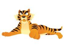 Beeldverhaal Tiger Lying Down vector illustratie