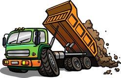 Beeldverhaal Tipper Truck Geïsoleerde Stock Foto's