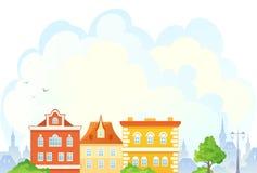 Beeldverhaal townscape stock illustratie