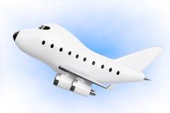 Beeldverhaal Toy Jet Airplane het 3d teruggeven royalty-vrije illustratie