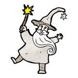 beeldverhaal van de tovenaars het gietende werktijd Royalty-vrije Stock Foto