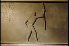 Beeldverhaal van Egyptische gravure van slaven het werken vector illustratie