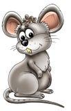 Beeldverhaal van grijze muis Stock Afbeeldingen