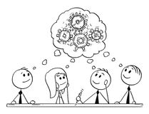 Beeldverhaal van Zaken Team Meeting en Brainstorming royalty-vrije illustratie