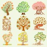 Beeldverhaal vastgestelde boom Stock Afbeeldingen