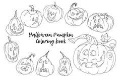 Beeldverhaal Vectorillustratie van Zwart-wit Halloween royalty-vrije illustratie