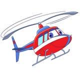 Beeldverhaal vliegende helikopter stock illustratie