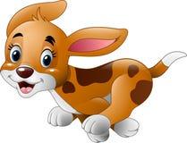 Beeldverhaal weinig hond het lopen Royalty-vrije Stock Foto's