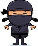Beeldverhaal Weinig Ninja vector illustratie
