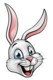 Beeldverhaal Wit Bunny Rabbit Face Stock Afbeelding