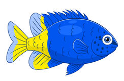 Beeldverhaal yellowtail damselfish vector illustratie