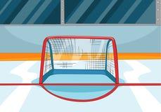 Beeldverhaalachtergrond van ijshockeypiste royalty-vrije illustratie