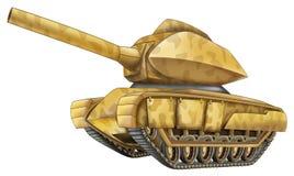 Beeldverhaalauto - tank - geïsoleerde karikatuur - Stock Afbeeldingen