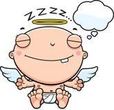 Beeldverhaalbaby Angel Dreaming royalty-vrije illustratie