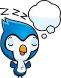 Beeldverhaalbaby Blauw Jay Dreaming stock illustratie