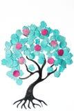 Beeldverhaalboom met kleurrijke confettien Royalty-vrije Stock Foto
