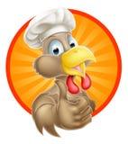 Beeldverhaalchef-kok Chicken Stock Foto's