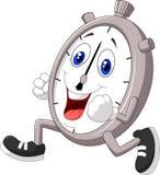 Beeldverhaalchronometer het lopen Stock Foto