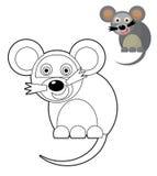 Beeldverhaaldier - kleurende pagina - illustratie voor de kinderen vector illustratie