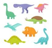 Beeldverhaaldraken en dinosaurussen royalty-vrije illustratie