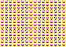 Beeldverhaalgezicht Cat Wallpaper Royalty-vrije Stock Afbeeldingen