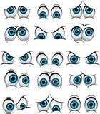 Beeldverhaalgezichten met diverse uitdrukkingen voor u ontwerp Royalty-vrije Stock Afbeeldingen